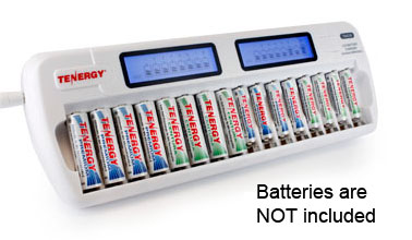 Tenergy TN438 16 Bay AA AAA NIMH NICD LCD Smart Battery Charger