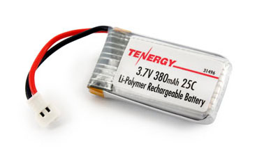 Tenergy 3 7V 380mAh LiPO Battery for 4 Channel 2 4GHz RC