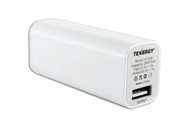 ... Charger  outlet online 3143c 22ed2 Tenergy 2600mAh Portable Power Bank  w Micro USB Cable (White ... f6961e2ba88f