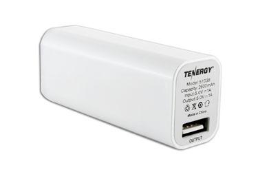 ... outlet online 3143c 22ed2 Tenergy 2600mAh Portable Power Bank w Micro  USB Cable (White ... 8e9dd97e53