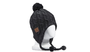 8fc48745d972b Tenergy Bluetooth Beanie Basic Knit w  Tassles (Black)